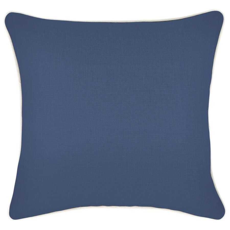 Cushion Cover-With Piping-Blue-60cm x 60cm