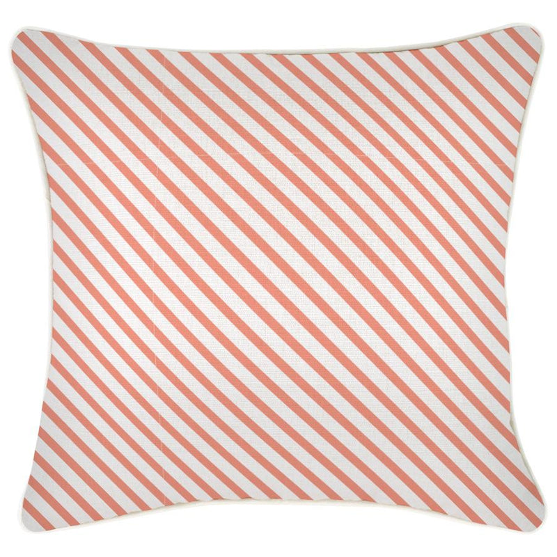 Cushion Cover-With Piping-Side Stripe Peach-45cm x 45cm