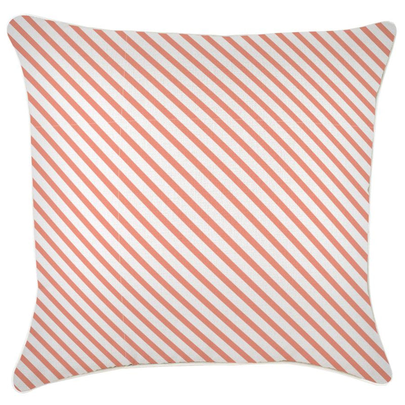 Cushion Cover-With Piping-Side Stripe Peach-60cm x 60cm
