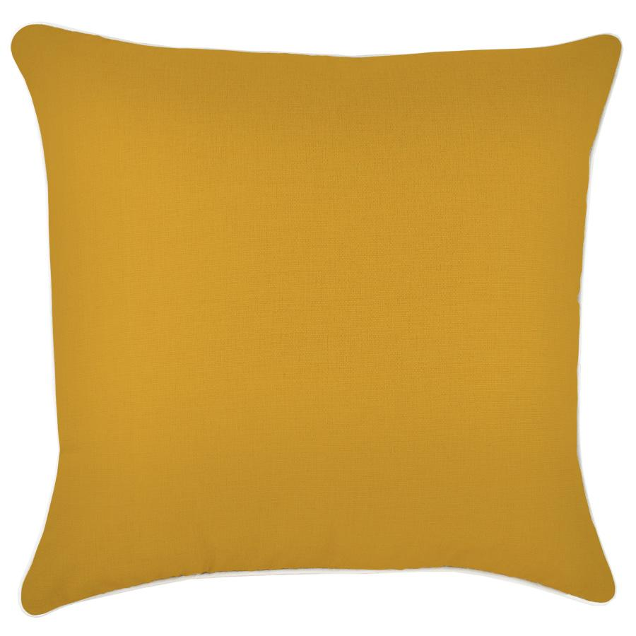 Cushion Cover-With Piping-Mustard-60cm x 60cm