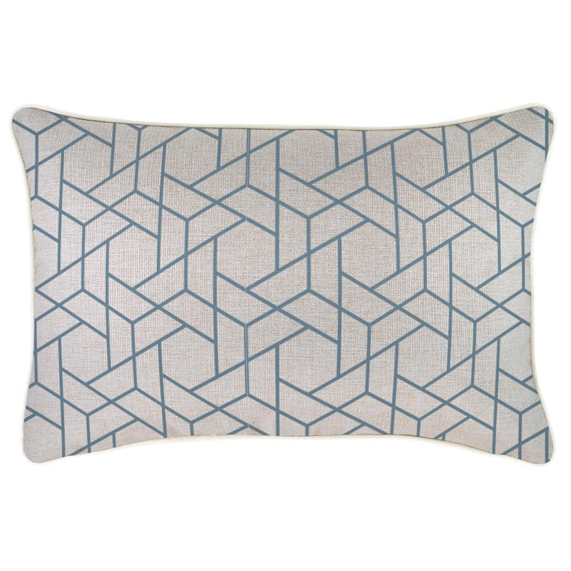 Cushion Cover-With Piping-Milan Blue-35cm x 50cm
