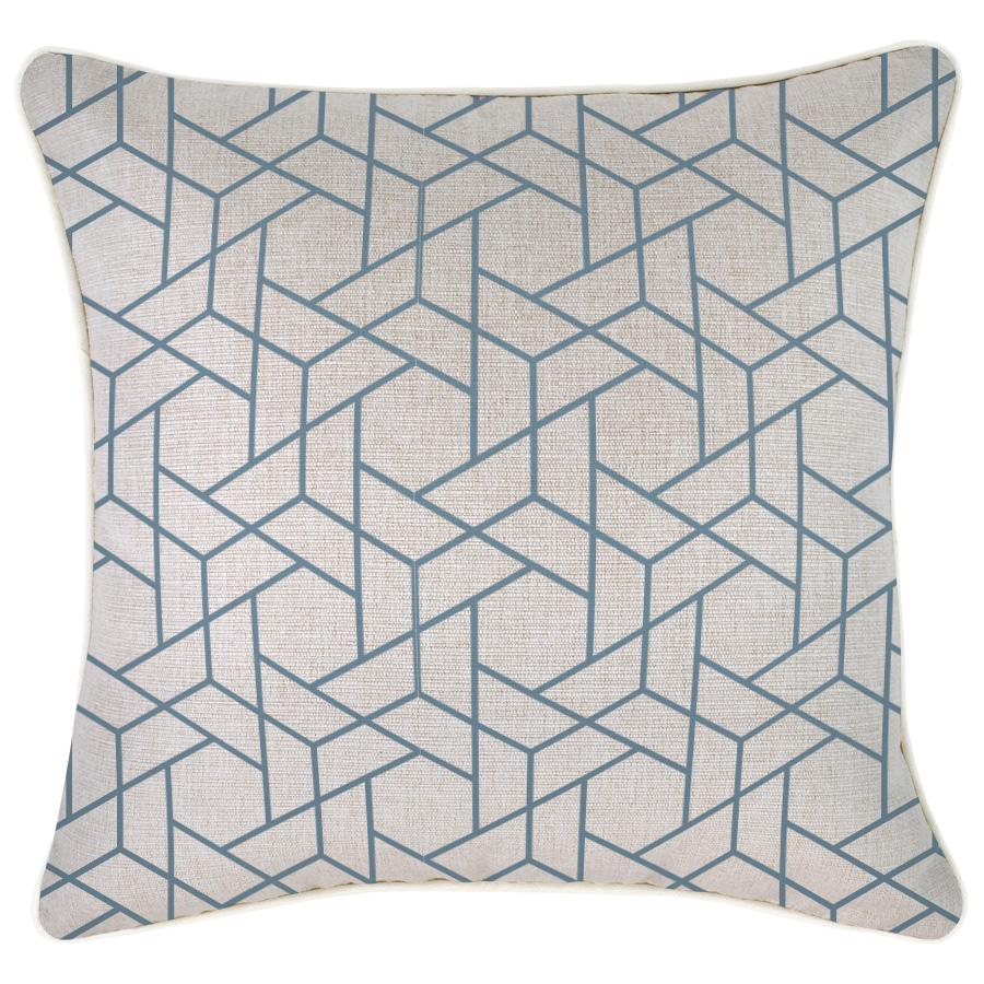 Cushion Cover-With Piping-Milan Blue-45cm x 45cm