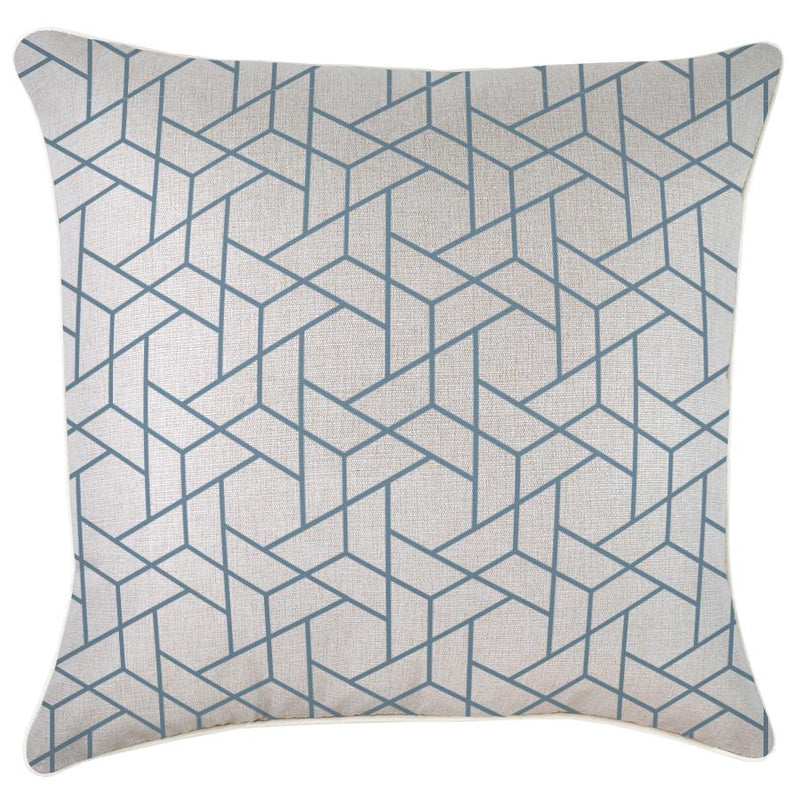 Cushion Cover-With Piping-Milan Blue-60cm x 60cm