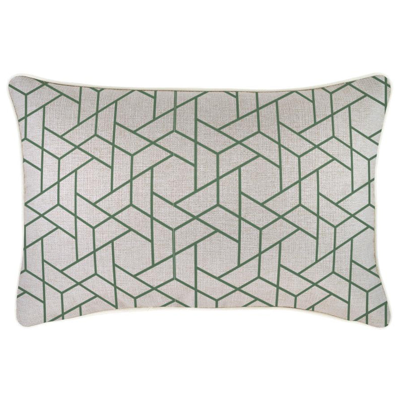 Cushion Cover-With Piping-Milan Green-35cm x 50cm