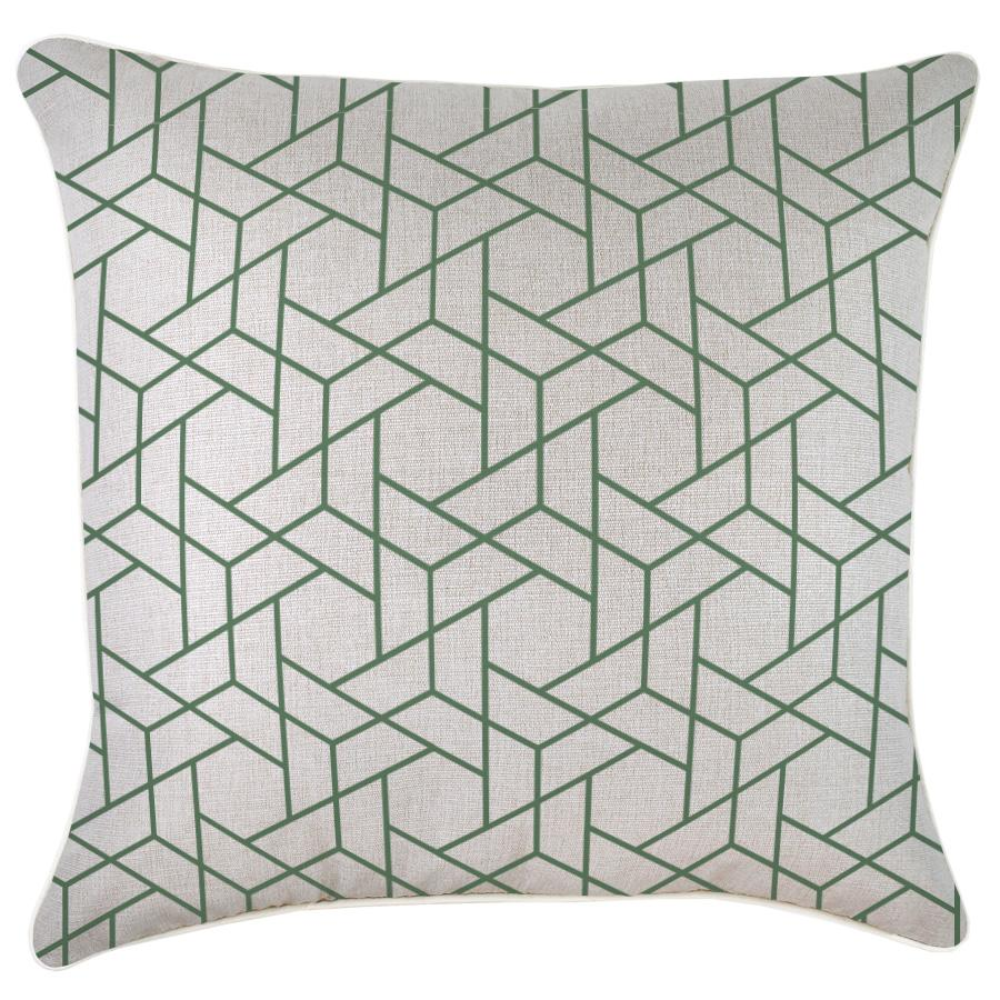 Cushion Cover-With Piping-Milan Green-60cm x 60cm