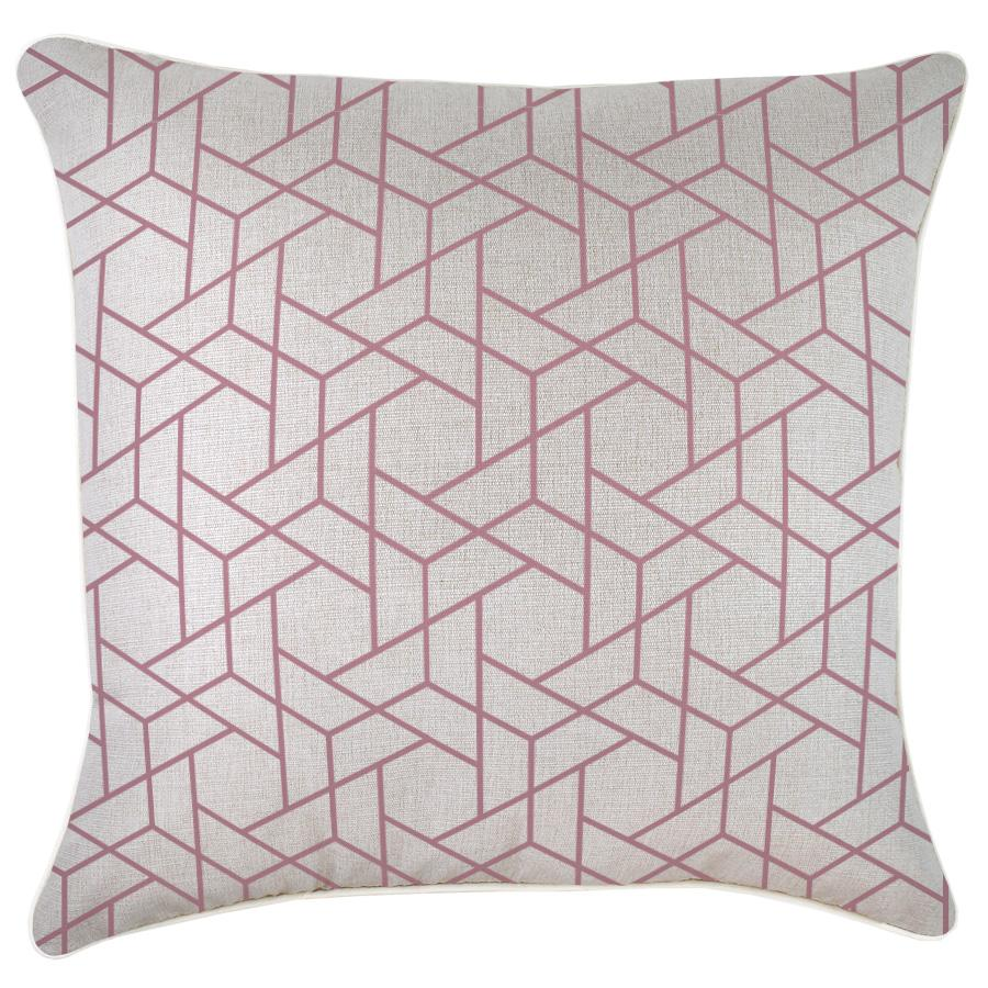 Cushion Cover-With Piping-Milan Rose-60cm x 60cm