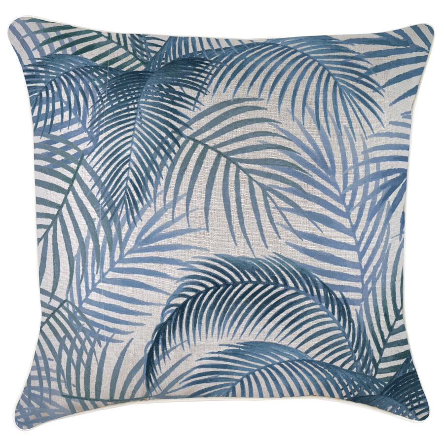 Cushion Cover-With Piping-Seminyak Blue-60cm x 60cm