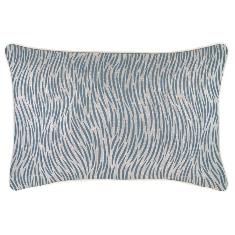 Cushion Cover-With Piping-Wild Blue-35cm x 50cm