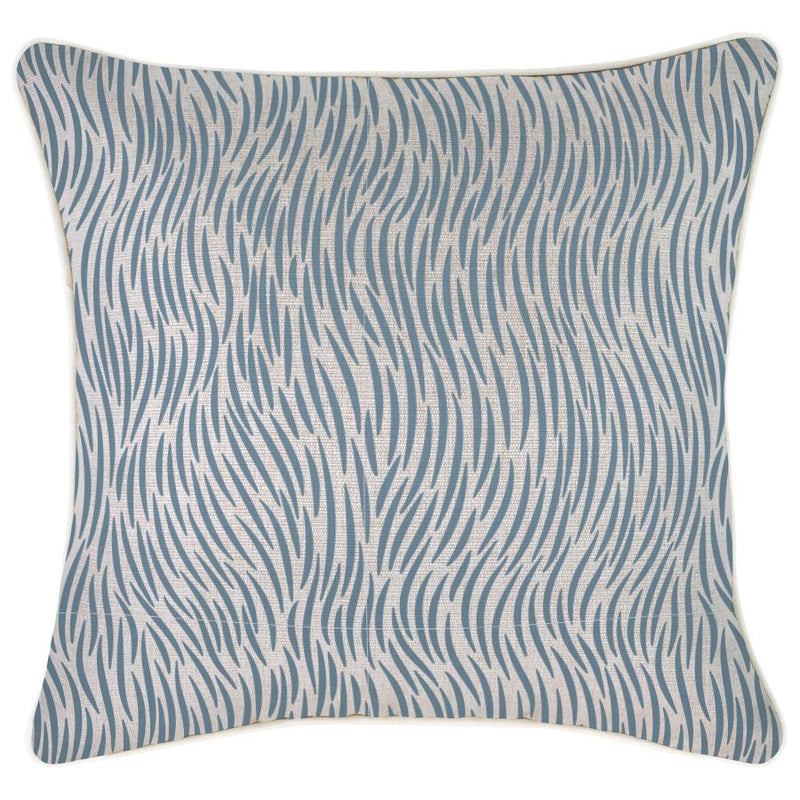 Cushion Cover-With Piping-Wild Blue-45cm x 45cm