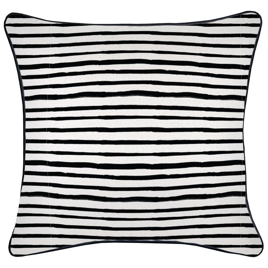 Cushion Cover-With Black Piping-Paint Stripes-45cm x 45cm