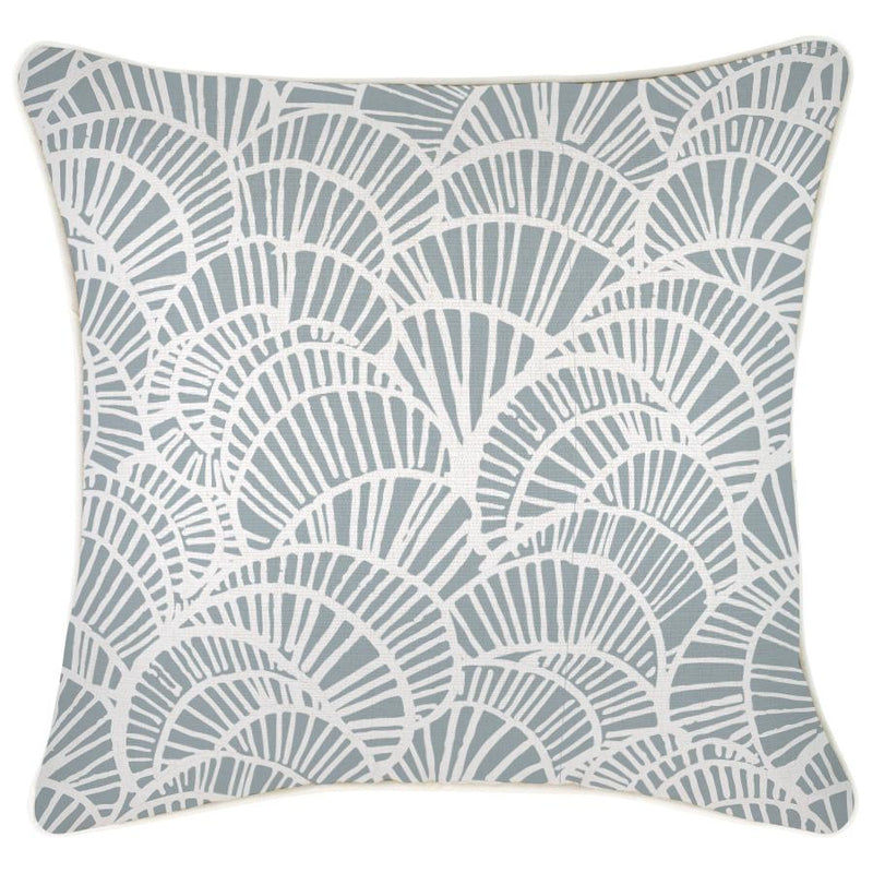 Cushion Cover-With Piping-Positano Smoke-45cm x 45cm