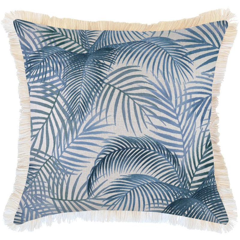 Cushion Cover-Coastal Fringe-Seminyak Blue-60cm x 60cm