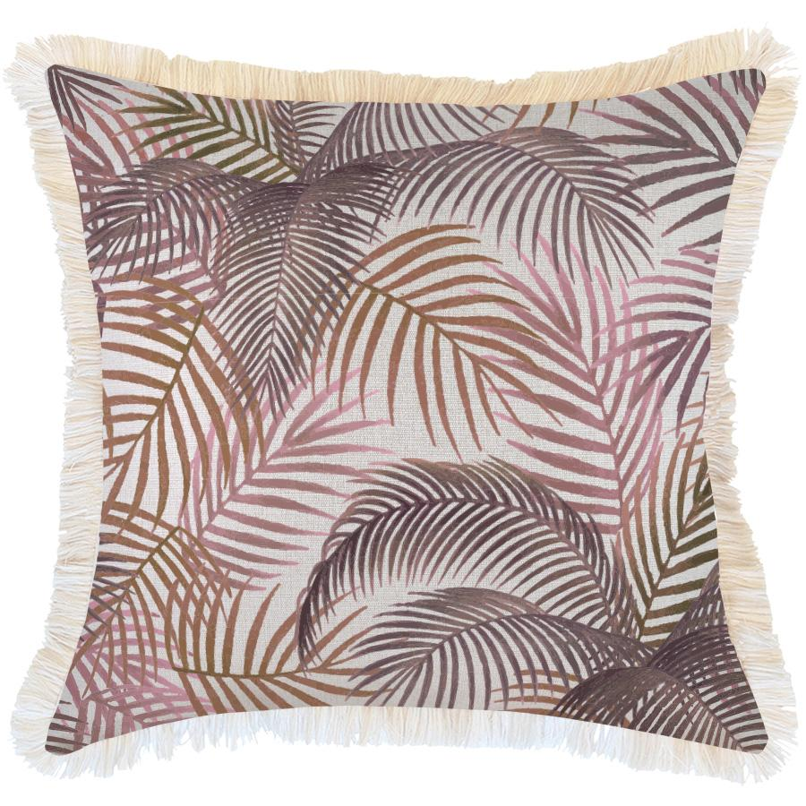 Cushion Cover-Coastal Fringe-Seminyak Rose-60cm x 60cm