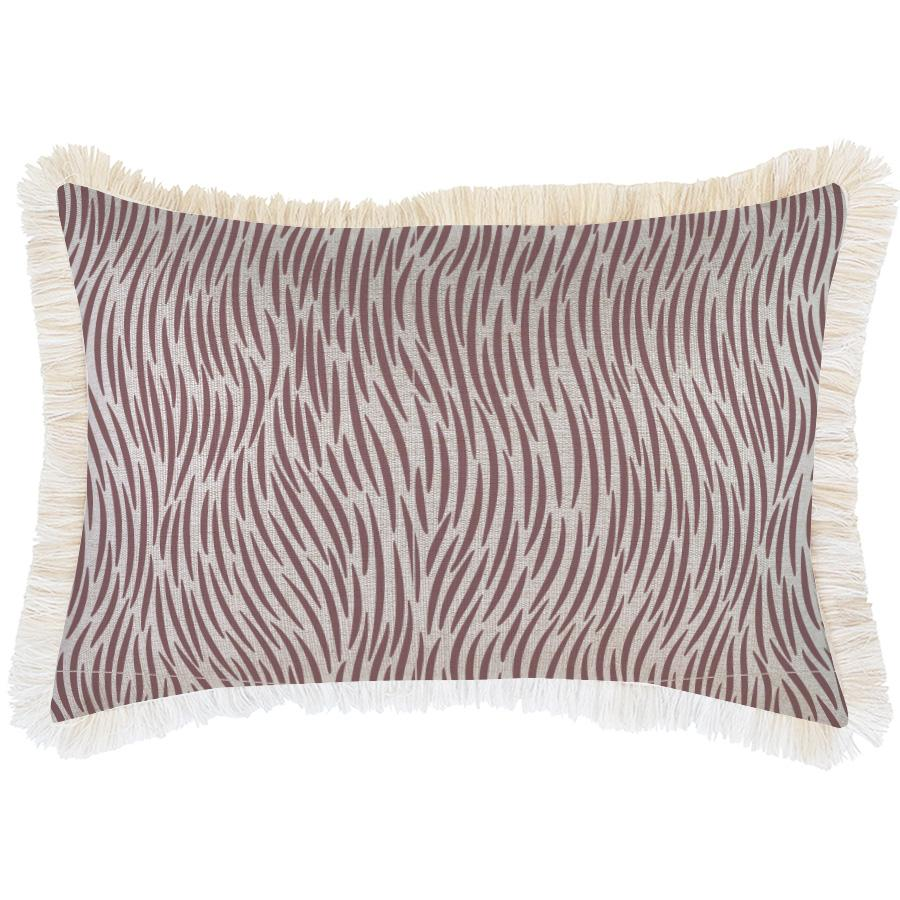 Cushion Cover-Coastal Fringe-Wild Rose-35cm x 50cm