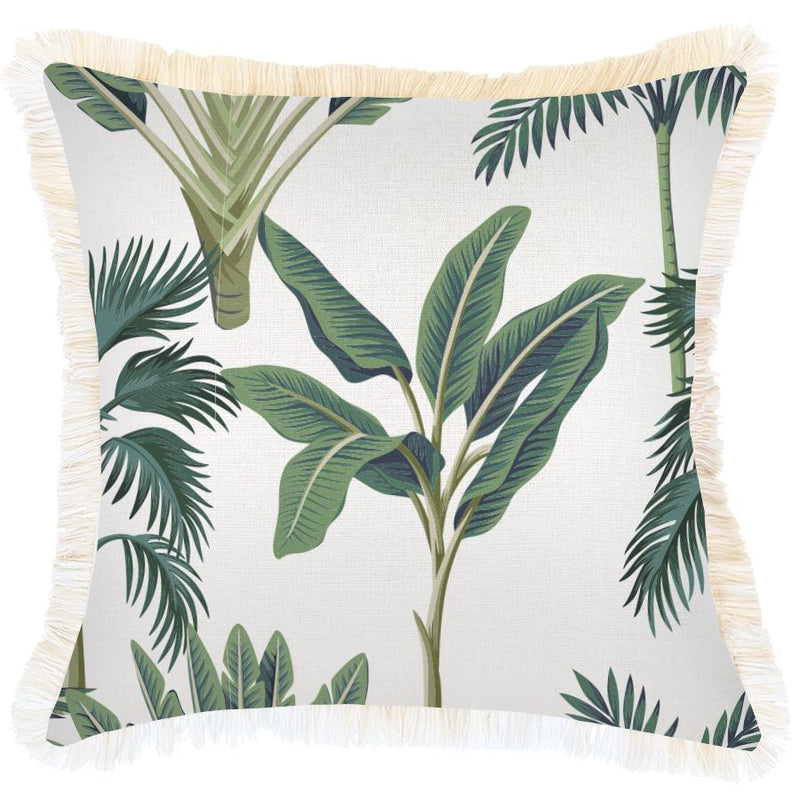 Cushion Cover-Coastal Fringe-Del Coco-45cm x 45cm