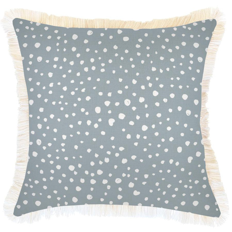 Cushion Cover-Coastal Fringe-Lunar Smoke-60cm x 60cm