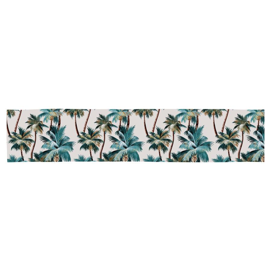 Table Runner-Palm Trees Natural-210cm x 40cm