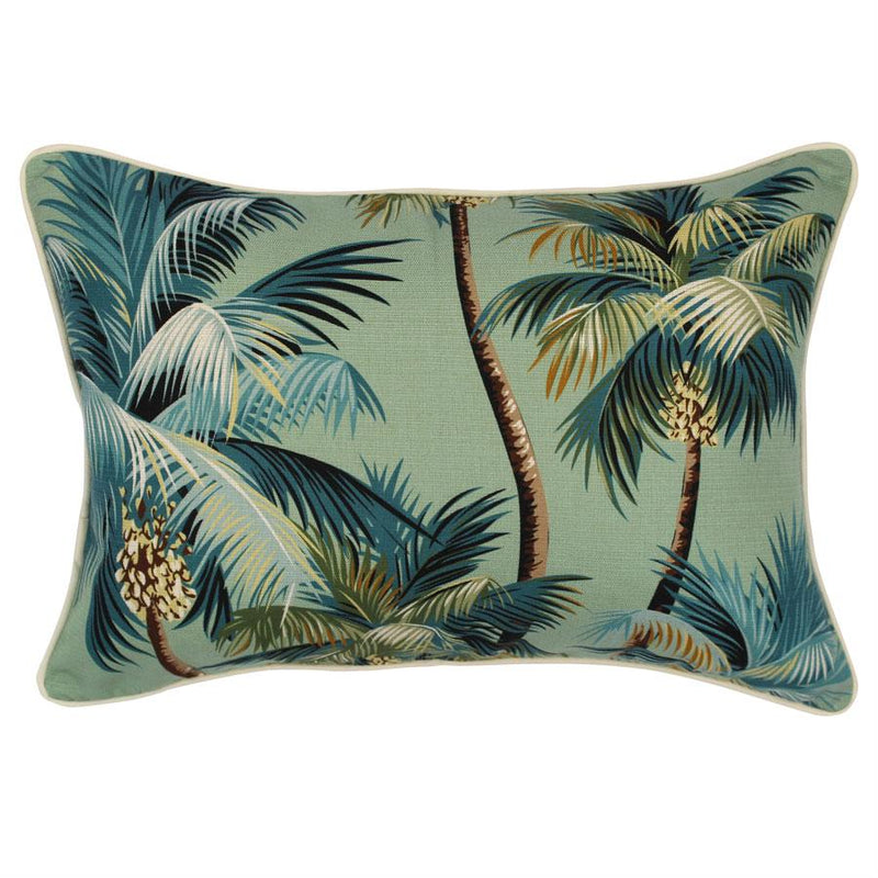 Cushion Cover-With Piping-Palm Trees Lagoon-35cm x 50cm