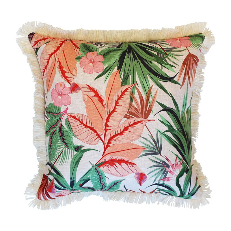 Cushion Cover-Coastal Fringe Natural-Desert Garden-60cm x 60cm