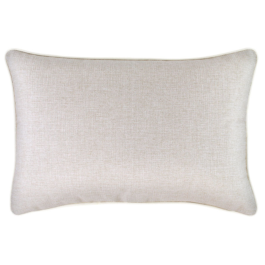 Cushion Cover-With Piping-Solid Natural-35cm x 50cm