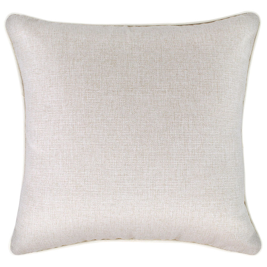 Cushion Cover-With Piping-Solid Natural-45cm x 45cm
