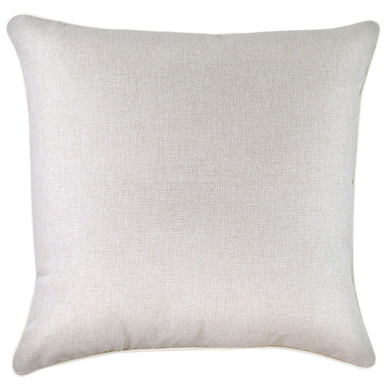 Cushion Cover-With Piping-Solid Natural-60cm x 60cm