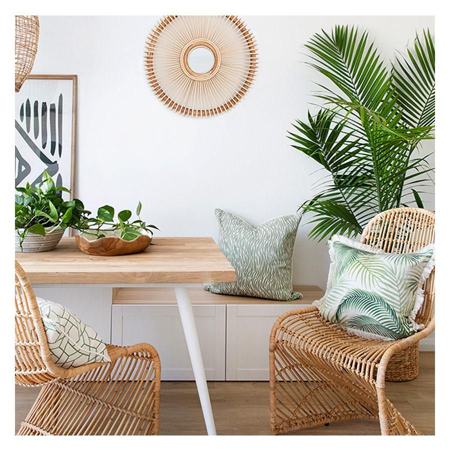 Cushion Cover-Coastal Fringe-Seminyak Green-45cm x 45cm