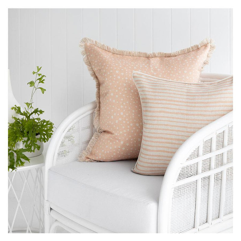Cushion Cover-With Piping-Paint Stripes Blush-45cm x 45cm