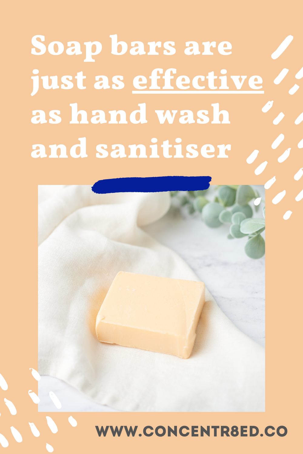 Soap bars are just as effective as hand wash and sanitiser