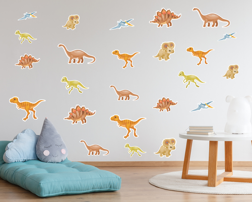 Dinosaur Wall Decals - Small-Wall Decals-AnaJosie Designs