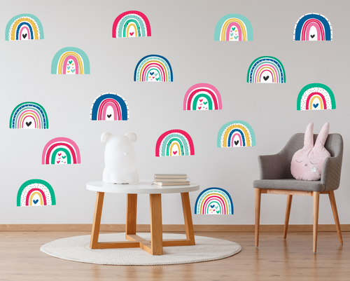 Colourful Rainbows Wall Decals-Wall Decals-AnaJosie Designs