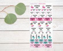 Load image into Gallery viewer, Name Labels - Unicorn Llama-Name Label Stickers-AnaJosie Designs