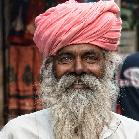 Indian man with thick beard