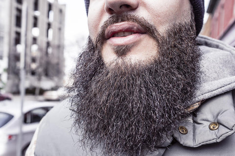 man with long bushy beard