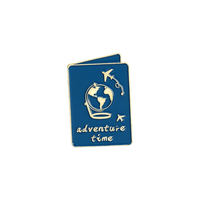Adventure Time Passport Essential Handcrafted Enamel Pin - Over Enameled