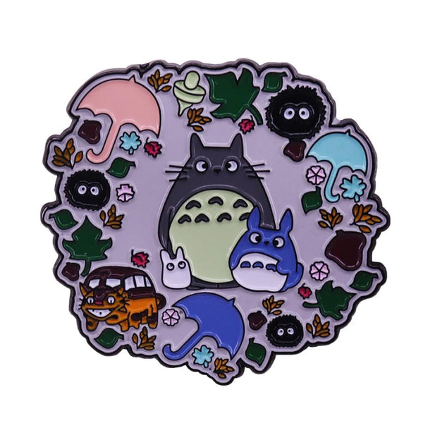 Totoro Anime Handcrafted Enamel Pin - Over Enameled