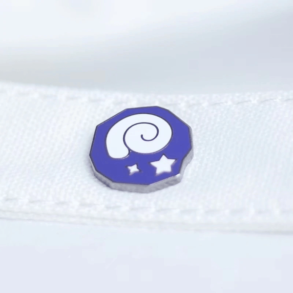 Fossil Animal Crossing Handcrafted Enamel Pin - Over Enameled