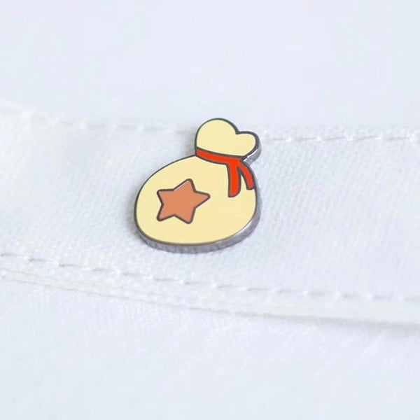 Bag of Bells Animal Crossing Handcrafted Enamel Pin - Over Enameled