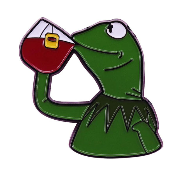 That's None of my Business Meme Handcrafted Enamel Pin - Over Enameled