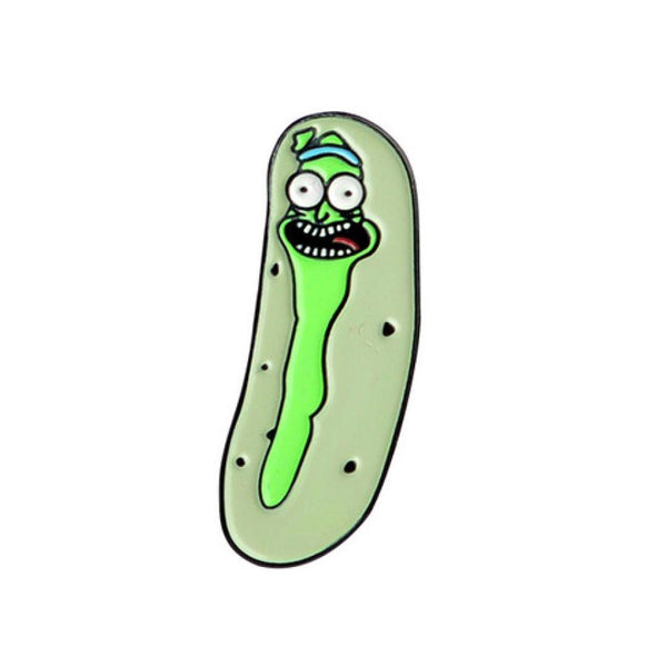 Pickle Rick Handcrafted Enamel Pin - Over Enameled
