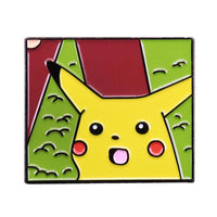Surprised Pika Meme Handcrafted Enamel Pin - Over Enameled