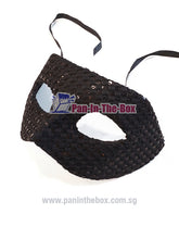 Load image into Gallery viewer, Black Zorro w/ Sequin Masquerade Mask