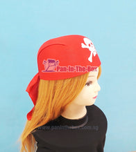 Load image into Gallery viewer, Pirate Bandana Hat (Red)