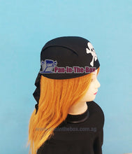 Load image into Gallery viewer, Pirate Bandana Hat (Black)