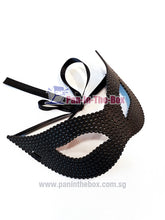 Load image into Gallery viewer, Black Dotted Masquerade Mask