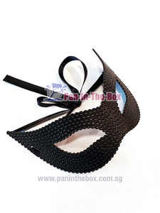 Black Dotted Masquerade Mask