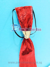 Load image into Gallery viewer, Red Sequin Tie