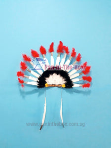 Red Indian Headgear