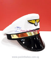 Load image into Gallery viewer, White Pilot Hat (For Adult)