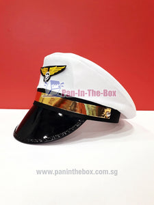 White Pilot Hat (For Adult)